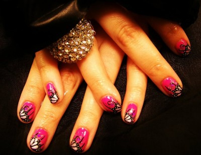 Shellac tutti frutti butterfly nails shellac st helens